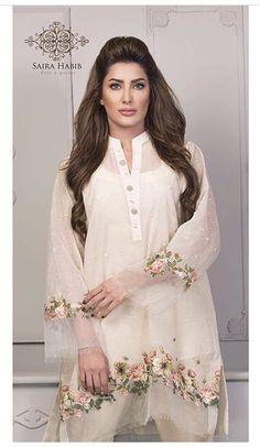 Saira Habib Eid Lawn Festive Season Dresses 2016 In case you are something similar to Pakistani Formal Dresses, Pakistani Dress Design, Pakistani Outfits, Indian Dresses, Pakistani Bridal, Indian Outfits, Stylish Dresses, Casual Dresses, Fashion Dresses
