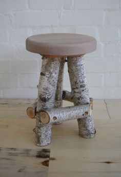 birch stool for the central park office