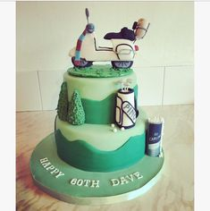 Hobby cake.... Scooter,golf,beer
