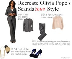 """""""Olivia Pope Style Guide"""" from Fancy-Francy.com"""