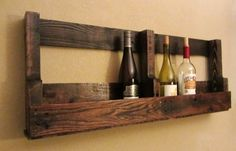 Wine rack made from skids for-the-home OR for kids books