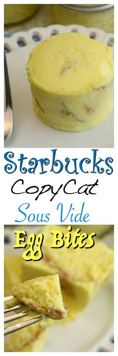 CopyCat Sous Vide Egg Bites - these are have a different texture than the Starbucks bites, but still yummy! Low Carb Recipes, Cooking Recipes, Sous Vide Recipes Eggs, Flour Recipes, Cooking Ideas, Sous Vide Cooking, Low Carb Breakfast, Breakfast Ideas, Breakfast Crockpot