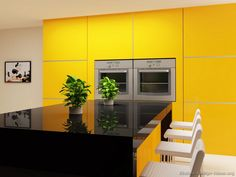 These Pictures Of Modern Yellow Kitchens Show Contemporary Cabinets In Various Shades From Light Ery Hues To Bright Lemon Tones