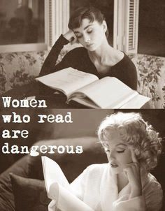 Women who read are dangerous - Audrey Hepburn and Marilyn Monroe reading I Love Books, Good Books, Books To Read, My Books, Music Books, The Words, Lectures, Love Reading, Woman Reading