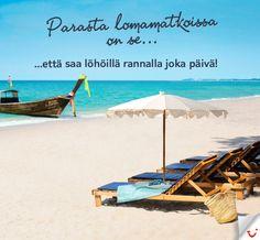 Parhaat löhöilypaikat rannalla. #Beach http://www.finnmatkat.fi/