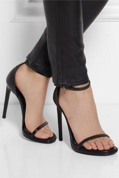 Saint Laurent Jane leather sandals NET-A-PORTER.COM
