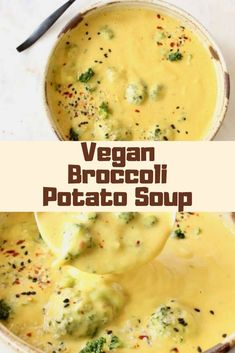 This soup is amazing, my children loved it, my husband lived it's a winner. I forgot to soak the cashews so I juts cooked the soup longer and it turned out perfect once blended. Breakfast For Kids, Breakfast Ideas, Vegan Vegetarian, Vegetarian Recipes, Broccoli Potato Soup, Healthy Breakfast Recipes, Healthy Recipes, Yummy Drinks, Yummy Food