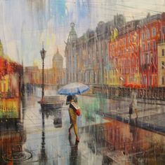 Художник Юмадилов Тимур Russian Architecture, Under The Rain, Umbrella Art, Love Rain, Pastel, Getting Wet, Photo Illustration, Illustrations, Rainy Days