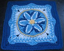 "In Like a Lamb, Out Like a Lion 9""-12"" Afghan Block by Margaret MacInnis"