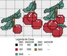 Criei este blog para dividir os gráficos que tenho, mostrar meus trabalhos, fazer amizades, compartilhar ideias e trocar experiências. Aceito sugestões e críticas para melhorar o blog cada vez mais. Se por acaso eu postar qualquer coisa que seja crédito de outra pessoa me avisem por favor. Entrem e fiquem à vontade. Beijos!!! Cross Stitch Fruit, Cross Stitch Boards, Cross Stitch Kitchen, Cross Stitch Flowers, Cross Stitch Designs, Cross Stitch Patterns, Craft Museum, Crochet Chart, Plastic Canvas Patterns