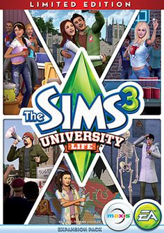 The Sims game rumors - The Sims Wiki, The sims 3 university life box art.jpg