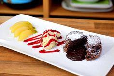 Rezept: Kleine Schokoladen Kuchen, flüssiger Kern, Nachtisch