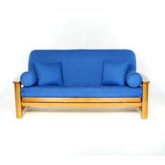 cobal full size futon covers blue color