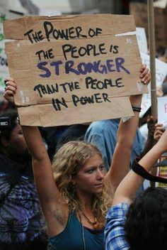 If we unite, the power of the people is far greater than the people in power - never forget and act accordingly!