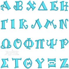 """Size: and 3 """" Apex Embroidery, Embroidery Alphabet, Embroidery Fonts, Embroidery Designs, Greek Font, Monogram Fonts, Cross Stitch, Greeks, Lettering"""