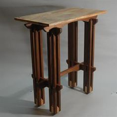 walnut end table with spalted maple top designed and built at woodmonkey custom wood furniture u0026
