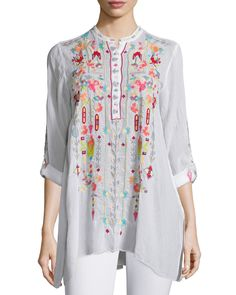 eb035e13a85 Johnny Was Plus Size Jezabelle Embroidered Tunic Top