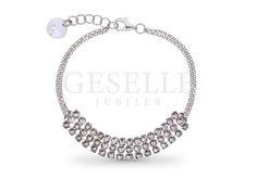 Najmodniejsza bransoletka ze srebra pr. 925 z kryształkami Swarovski ELEMENTS w odcieniu Crystal | SREBRO \ Bransoletki od GESELLE Jubiler