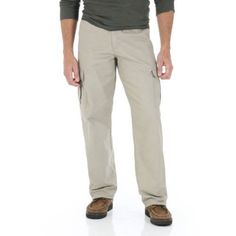 Wrangler - Men's Legacy Cargo Pants, Size: 38 x 32, Beige