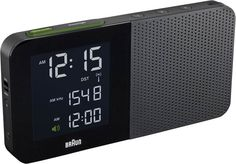Braun digital clock - Wonder where iPhone designs come from? Look to Braun and Dieter Rams Radios, Travel Alarm Clock, Radio Alarm Clock, Iphone Design, Digital Radio, Digital Alarm Clock, Braun Dieter Rams, Black Clocks, Cool Clocks