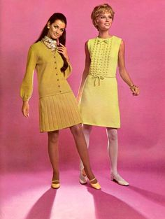 "myvintagevogue: "" Bucilla Knit Fashions 1969 """