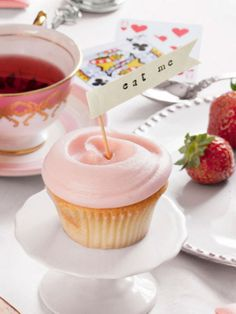 Put a personal stamp on store-bought treats with tiny EAT ME flags.