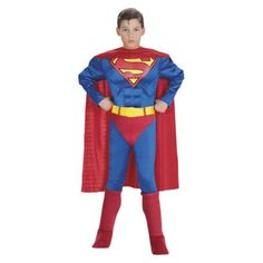 Boys Superman Muscle Chest Costume