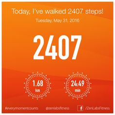 Tuesday, May 31, 2016 - 2407 steps