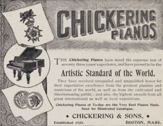 Chickering Pianos 1896