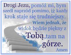 Iść naprzód pomimo trudności Prayers, God, Coaching, Polish, Life, Dios, Training, Vitreous Enamel, Prayer
