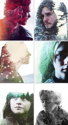 The Stark siblings