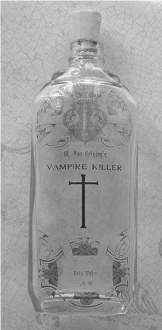 ✯ Dr Van Helsing Vampire Killer Holy Water ✯