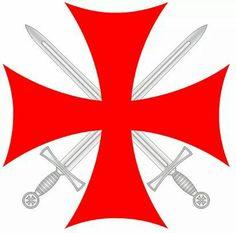 cruz Medieval Knight, Medieval Weapons, Kingdom Of Jerusalem, Masonic Art, Military Orders, Geniale Tattoos, Knight Armor, Holy Cross, Historical Art