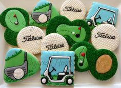 1 Dozen Golf Cookies by SugaredHeartsBakery on Etsy sports party food