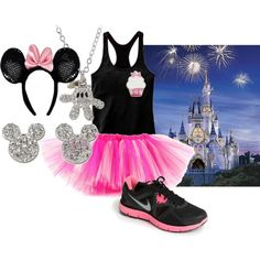 This is as close as I can find!!!  This is similar to my OUTFIT for the Princess 1/2  Marathon!  But Will be PURPLE & LIME GREEN TUTU and Purple Tank and a CROWN!!