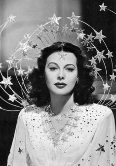 """All I really want in life is a headpiece like this. (Hedy Lamarr in """"Zeigfield's Girl"""")"""