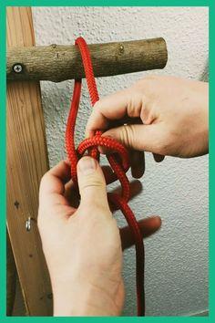 Rope Crafts, Diy Crafts Hacks, Bushcraft, Hammock Knots, Hook Knot, Strong Knots, Types Of Knots, Survival Knots, Best Knots