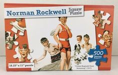 Norman Rockwell Jigsaw Puzzle Cousin Reginald Goes Swimming 1917 NEW 500 Pieces #GreenbriarInternational
