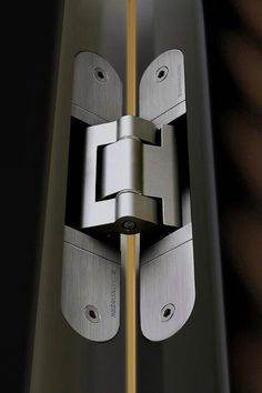 There are basically two types of barn door hardware. The first is a rustic, flat track sliding door system The second is a more modern roller and track style Concealed Door Hinges, Hidden Door Hinges, Sliding Barn Door Hardware, Sliding Doors, Kitchen Cabinets Hinges, Inset Cabinets, Hidden Hinges Cabinets, Cabinet Doors, Patio Door Handle