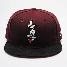 New Era 9fifty Retro Disney Goofy Character Maroon Black Snapback Hat Cap b856f24615a0