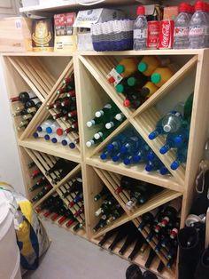Les Casiers du Manoir Casier à bouteilles, casiers à vin, casiers à magnum, casiers à bouteilles, étagère à bouteille, range bouteille, rayonnage à bouteilles, rangement et stockage bouteilles de vin, rangement vin, meuble bouteilles, aménagement cave à vin => Notre gamme KR64 totalement intégrée dans votre vie de tous les jours pour le rangement de vos bouteilles de lait, d'eau....