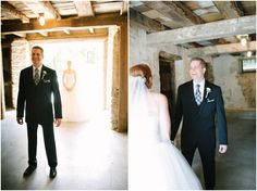 First Look in a barn at the Duportail House  Jen + Steven // Married at Duportail House