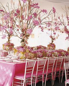 Floral idea: enchanted garden/ a mid summer nights wedding Flowers by Preston Bailey