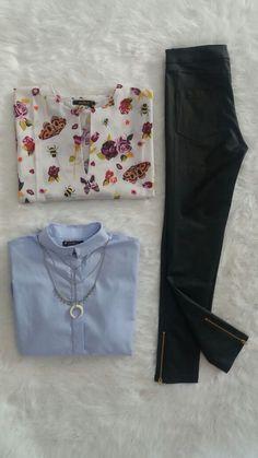 Pantalón Engomado con Camisa o Blusa?! #Camisas #Mujer