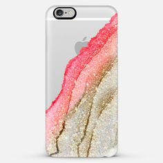 FLAWLESS CORAL & FAUX GOLD  by Monika Strigel iPhone 6 - The New Standard