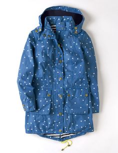 "Loving this in the season's ""it"" color @BodenClothing Spring Parka China Blue Spot"