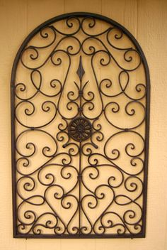 this wrought iron wall dcor would make a nice design and dcor statement paired with our - Wrought Iron Wall Designs