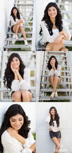 Alexandra Feild Photogrpahy | stylish & modern senior portraits, stair poses