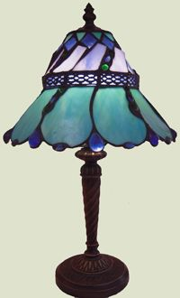 The Blue Fluted Tiffany - This gift of light will be treasured for years to come.