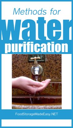 Water Purification Methods - 4 ways to purify water and make it safe for drinking